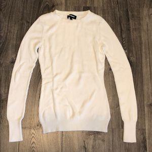Small Express cream crew neck sweater